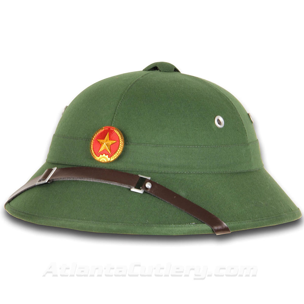 Picture of North Vietnamese Army Vietcong Pith Helmet