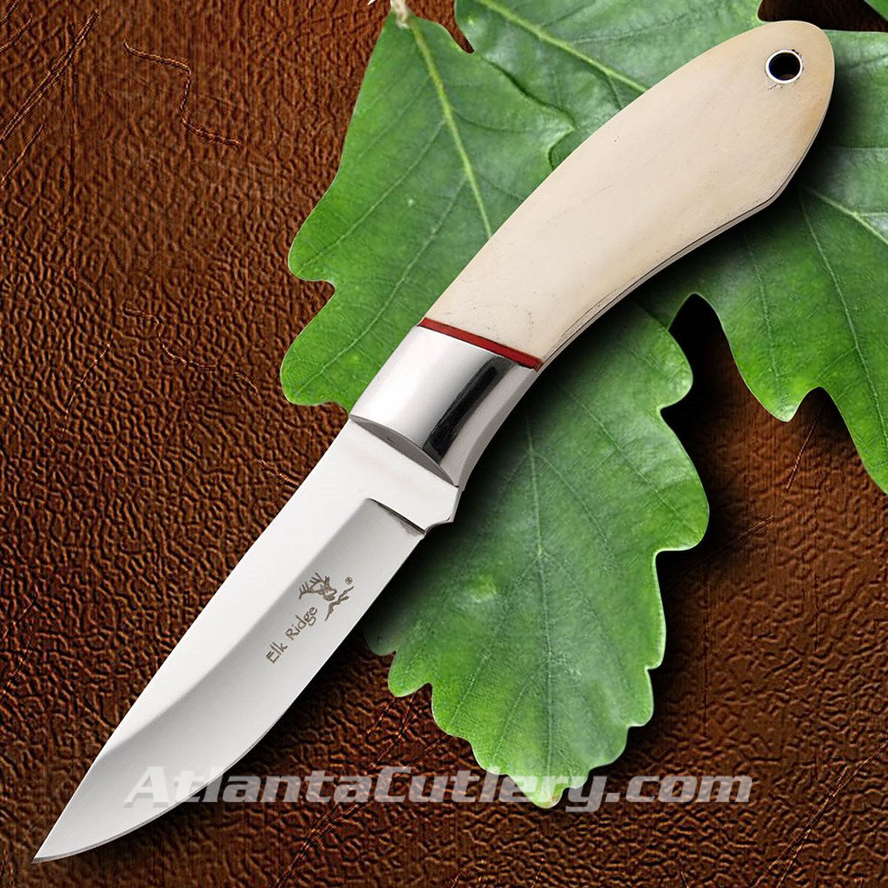 Elk Ridge Hunter Knife Bone Scales