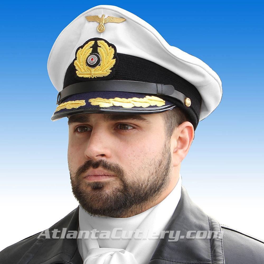 German WWII Reproduction Kriegsmarine U-Boat Captain Cap