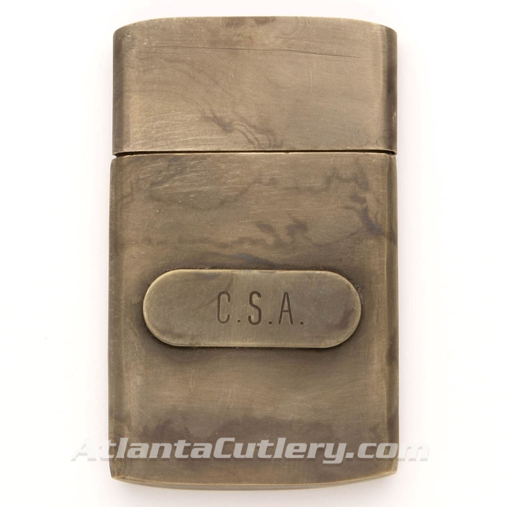 Brass CSA Civil War Map Case