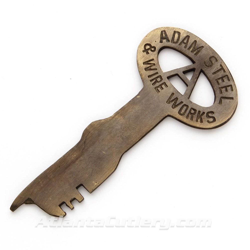 Adam Steel & Wire Works Brass Jailhouse Key