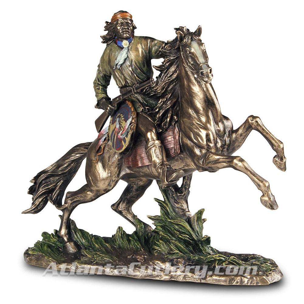 Apache Warrior Statue on horseback