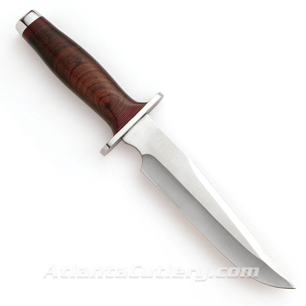 ACC Bowie Polished Blade Knife - Made in USA by Atlanta Cutlery