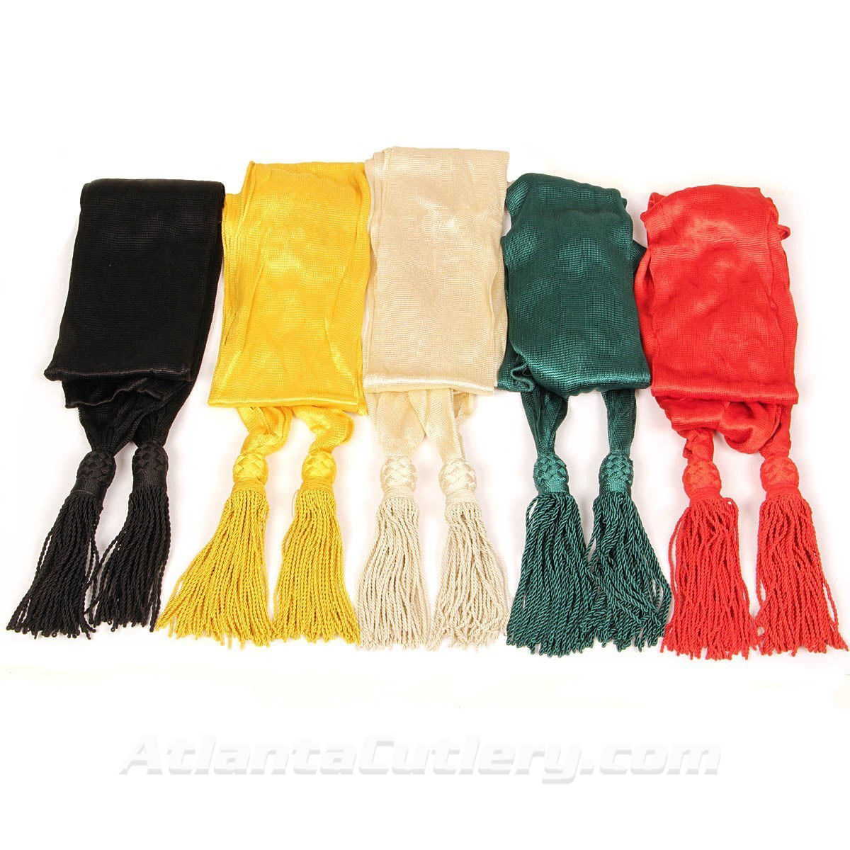 Officer's Silk Sash - Tassels