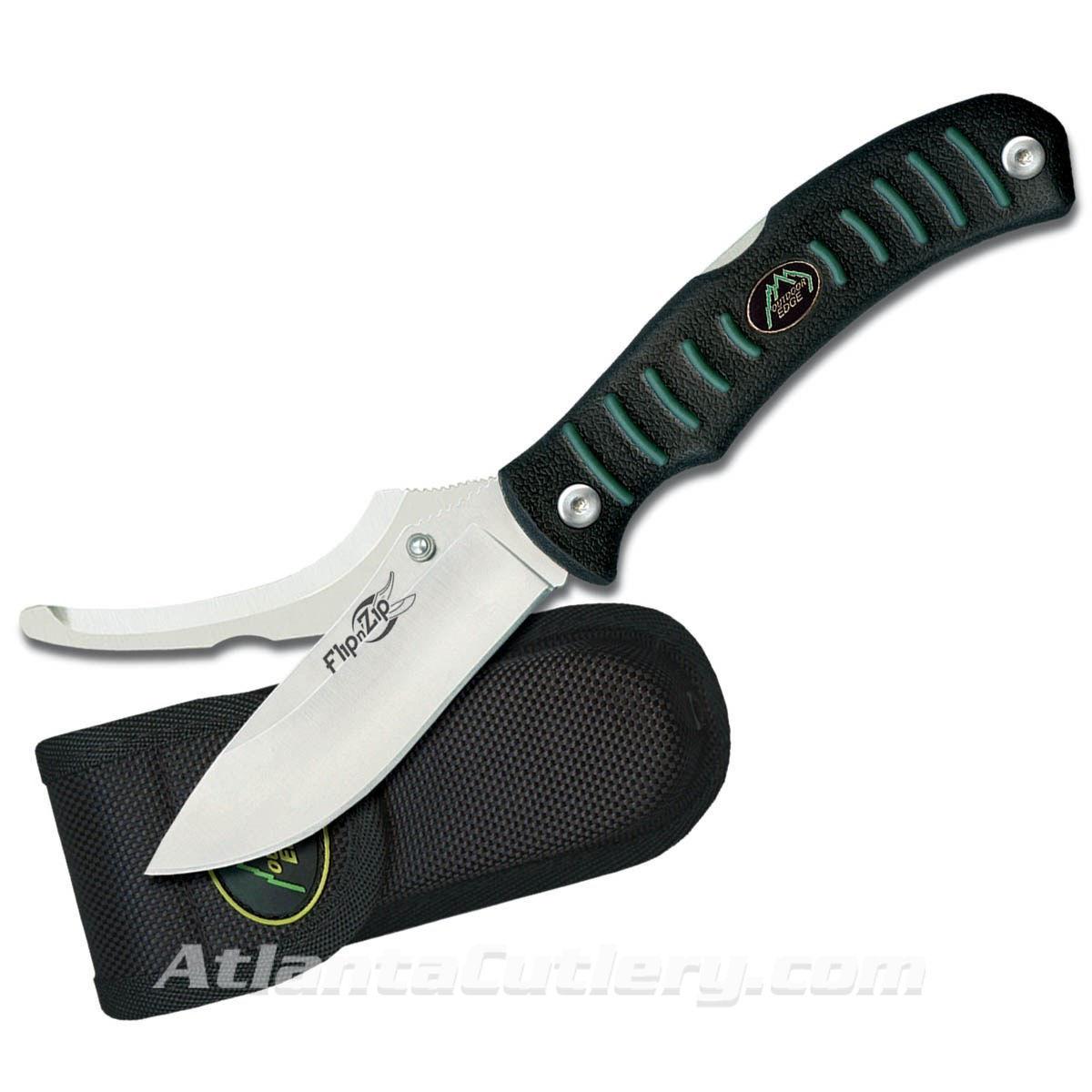 Flip 'N Zip Knife with Durable Nylon Sheath