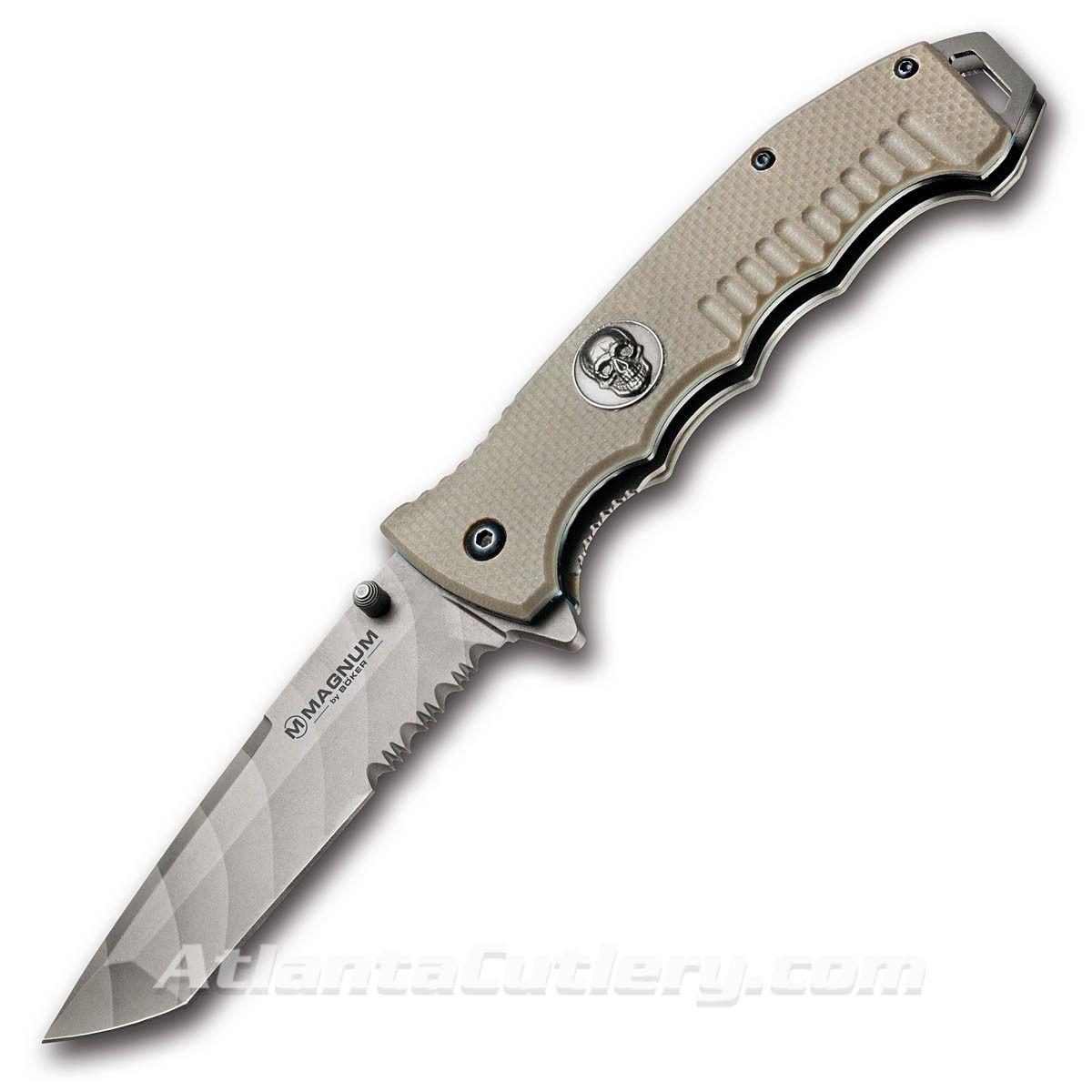 Boker Magnum Shades of Gray Liner Lock Knife