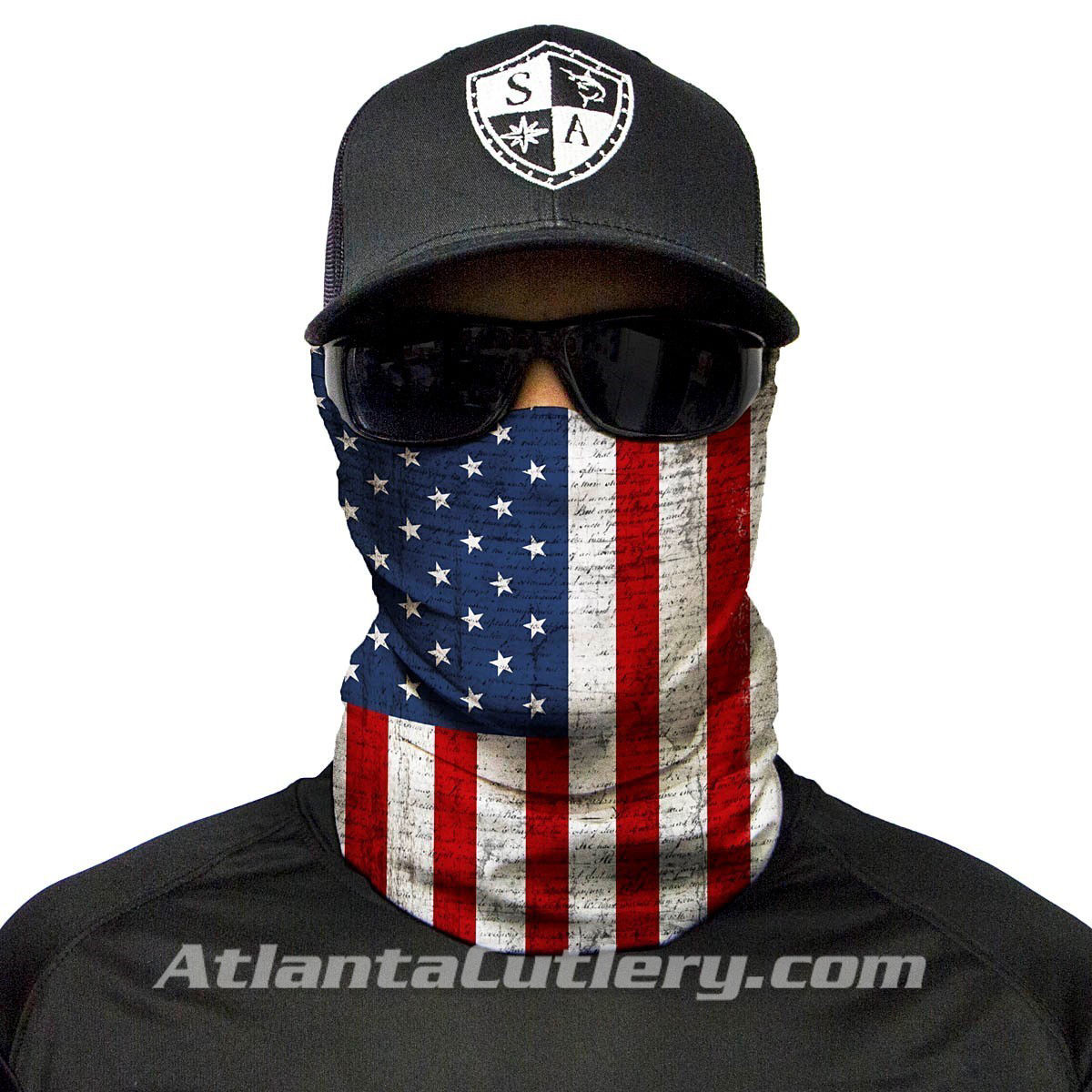 Multi Use US Flag Face Shield Tubular Bandana