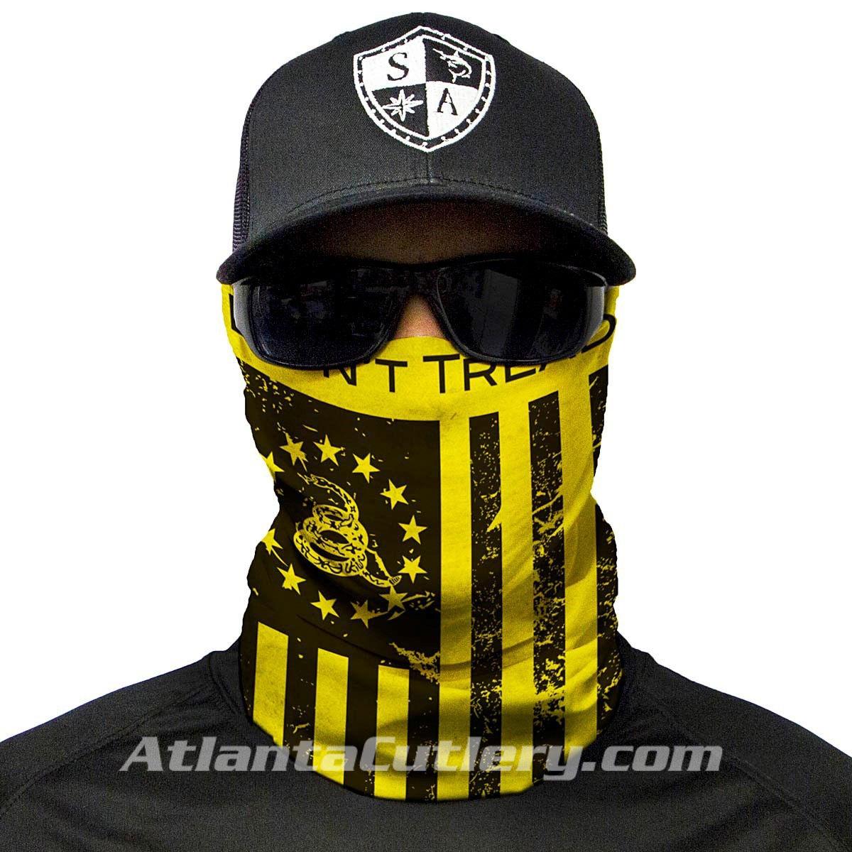 Multi Use Don't Tread on Freedom Face Shield Tubular Bandana