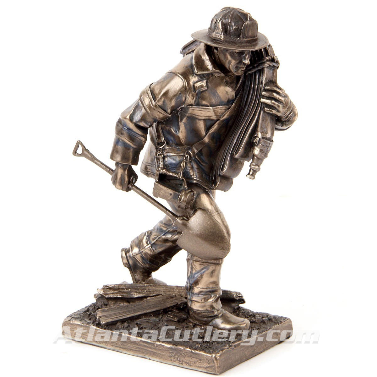 Firefighter in Action Statue