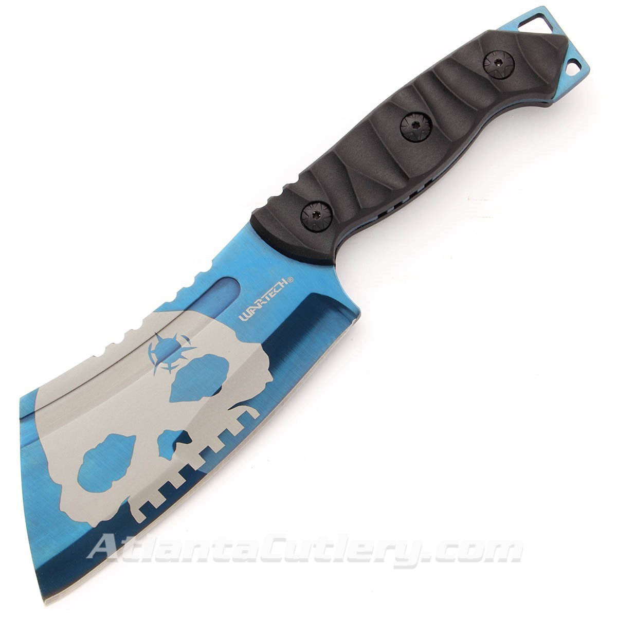 Wartech Blue Cleaver Fixed Blade Skull Hunting Knife