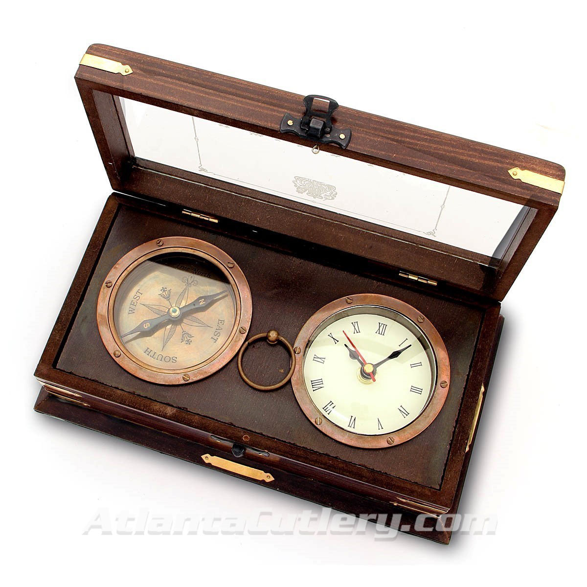 Royal Navy Set with Clock and Compass