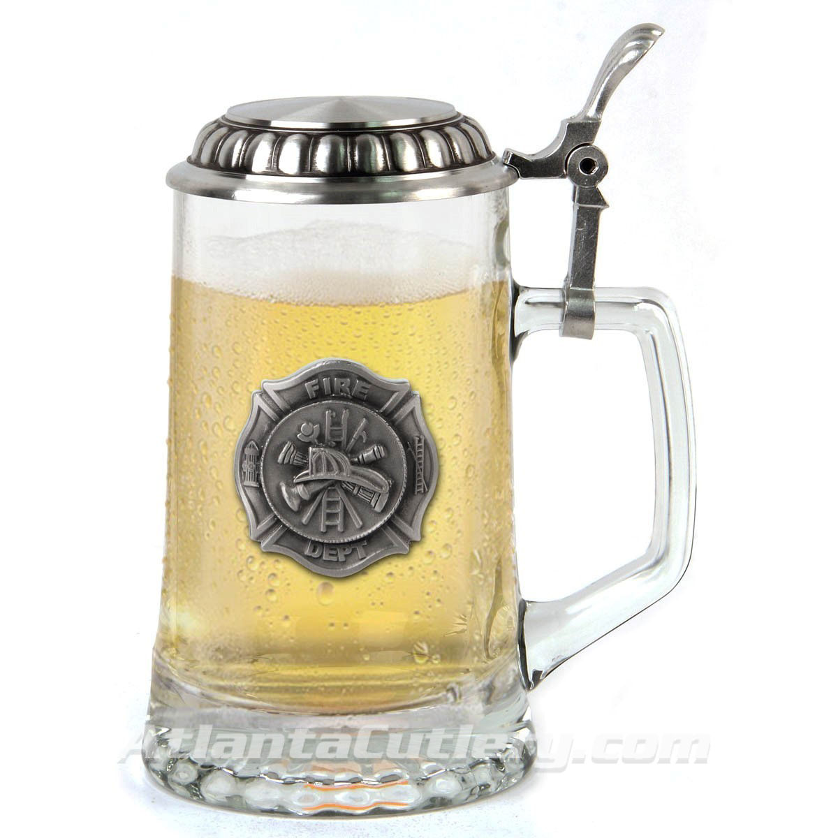 Firefighter Stein  with  Lid