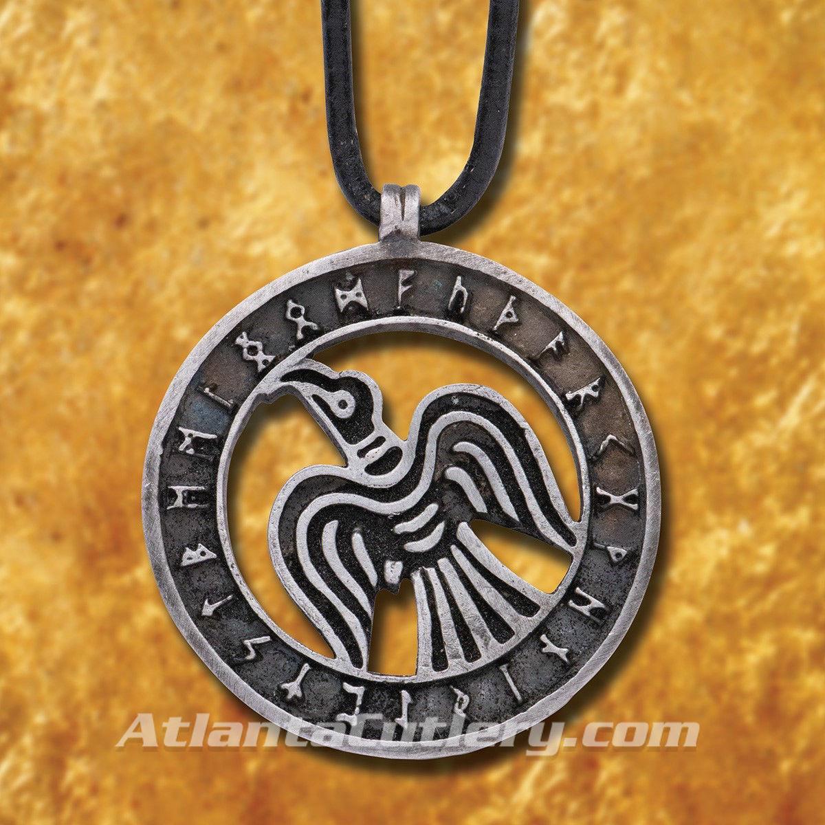 Viking Raven Pewter Pendant