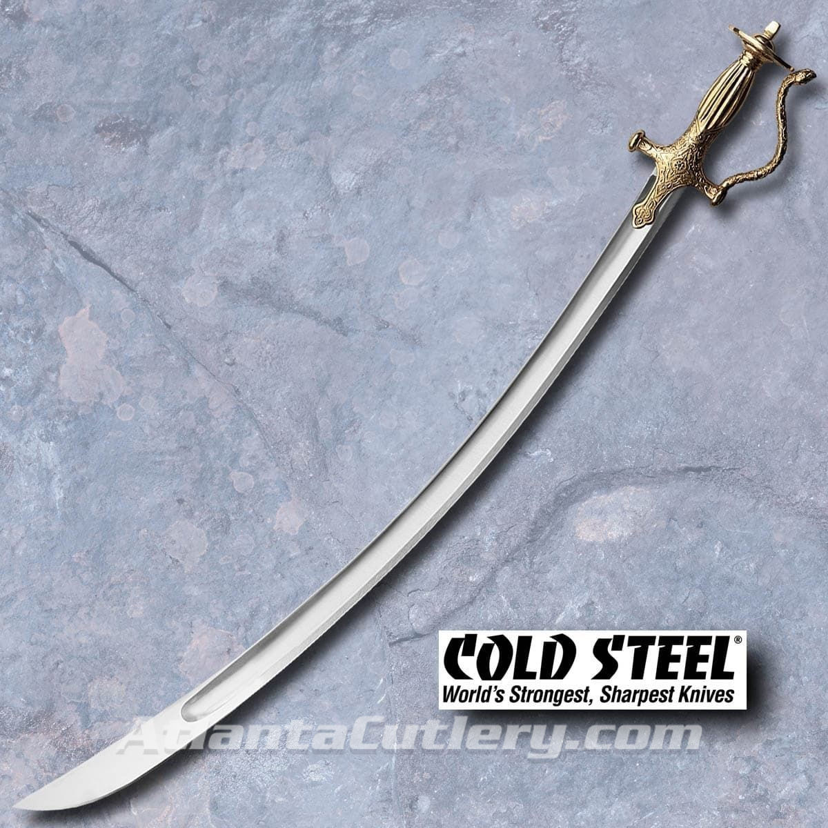 Cold Steel's Talwar Curved Saber with Brass Fittings