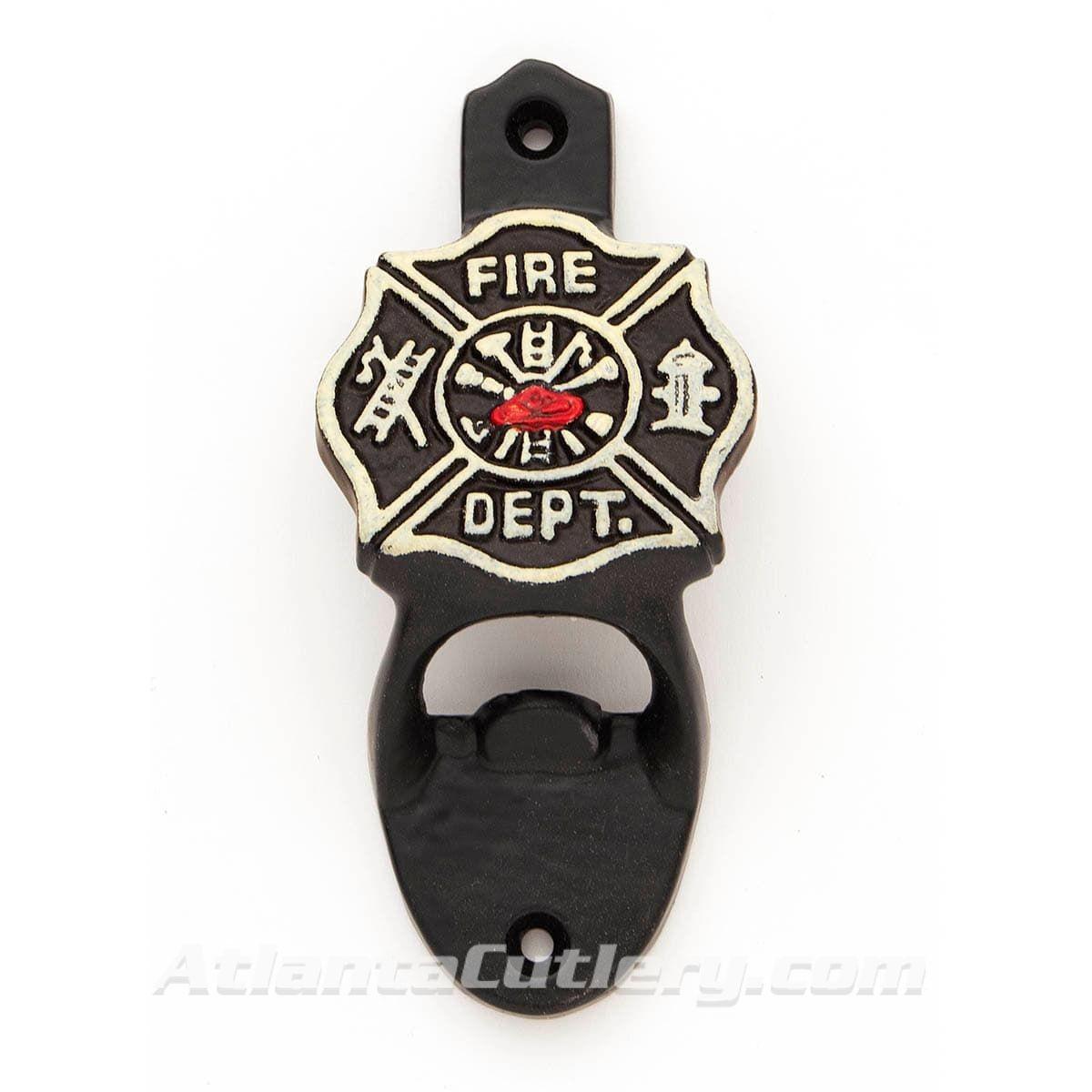 Cast Iron Fireman Bottle Opener