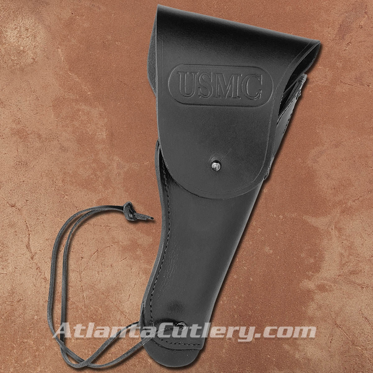 Right Hand Draw USMC 1911 Style Black Leather Holster