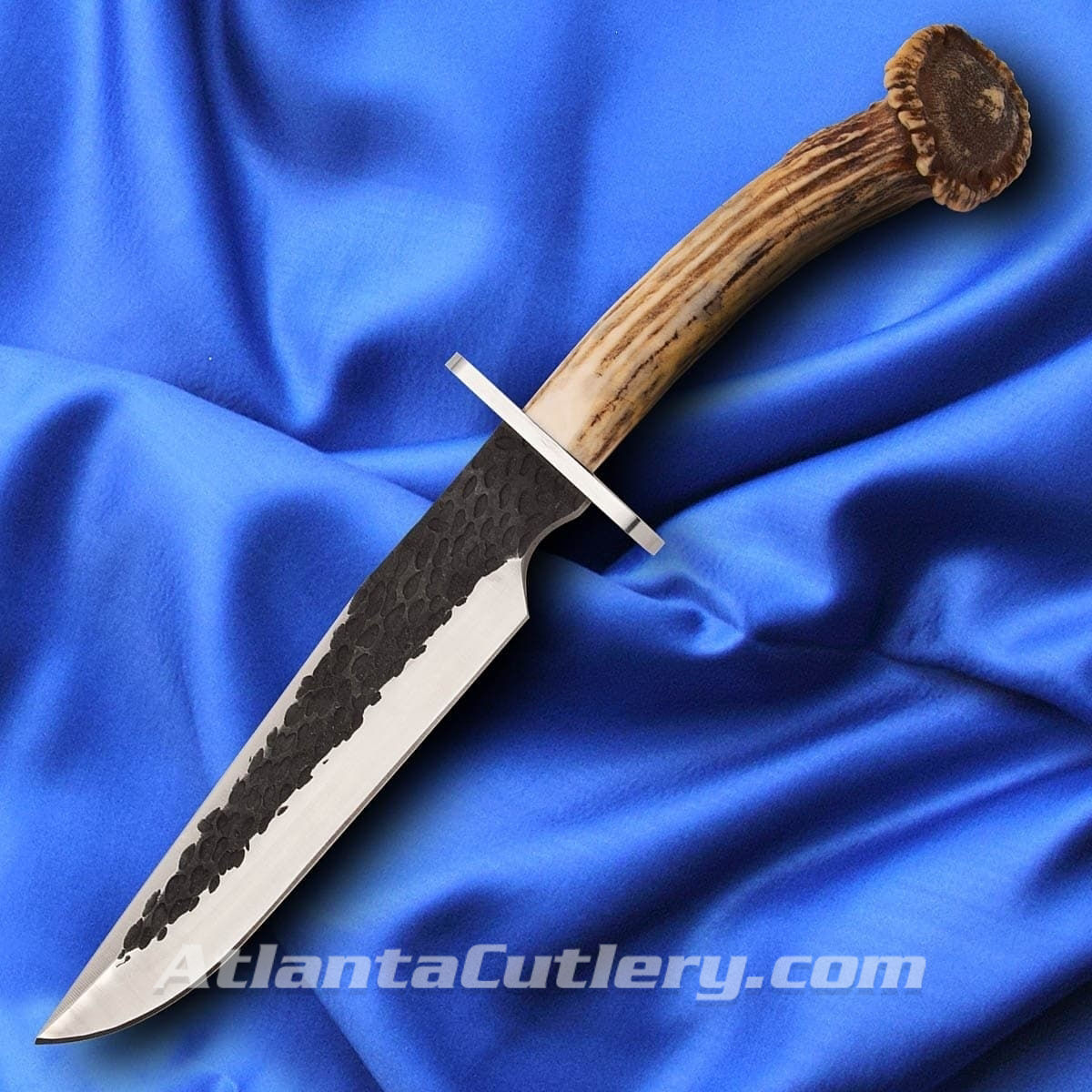 ACC Sambar Stag Crown Bowie Rough Forged Finish