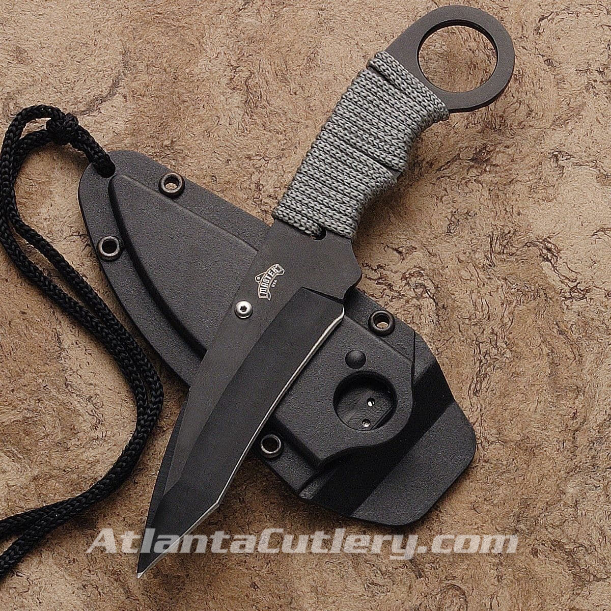 Cougar Neck Knife with Lanyard and Paracord Grip