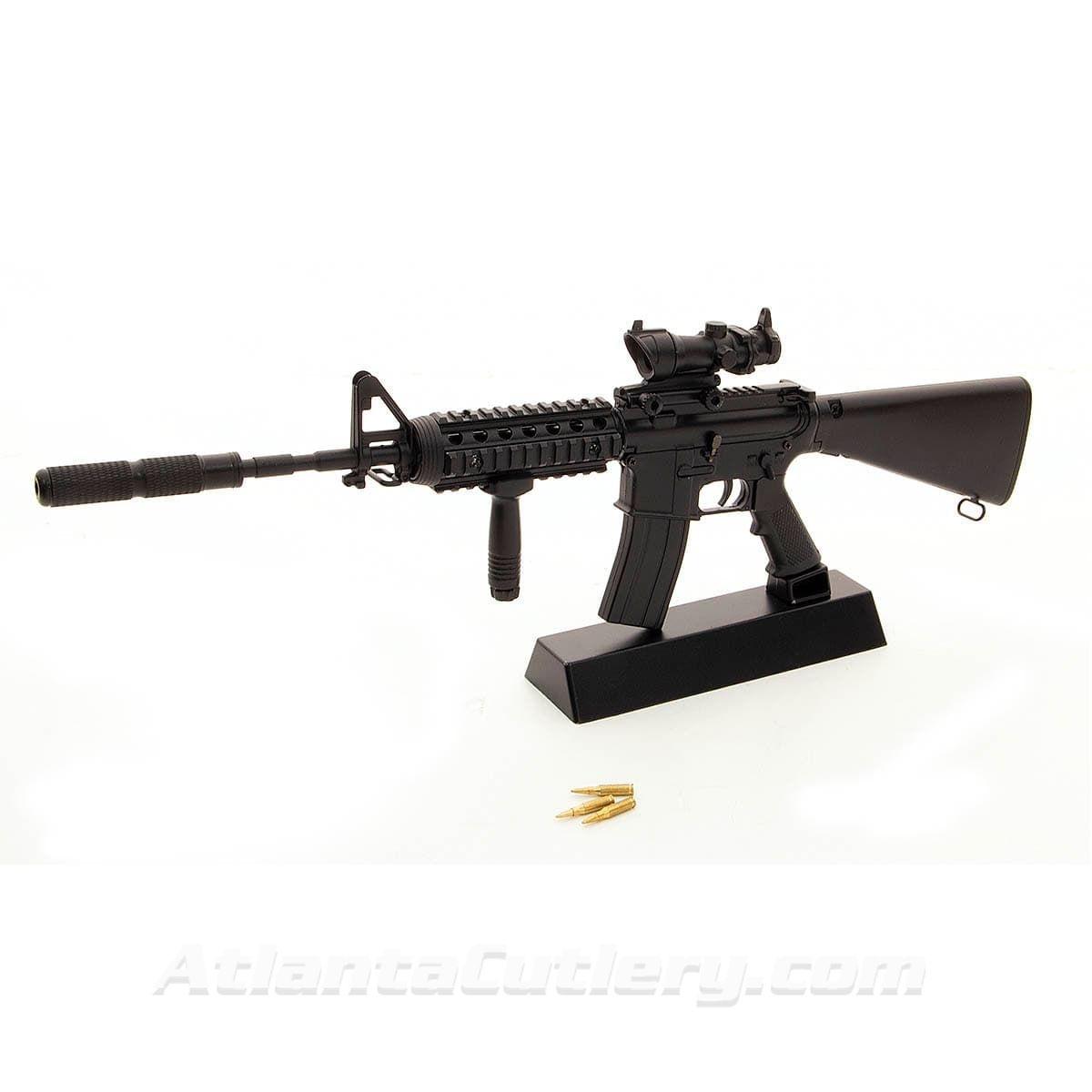 Miniature M16 Toy Model Fugazi on Trophy Stand