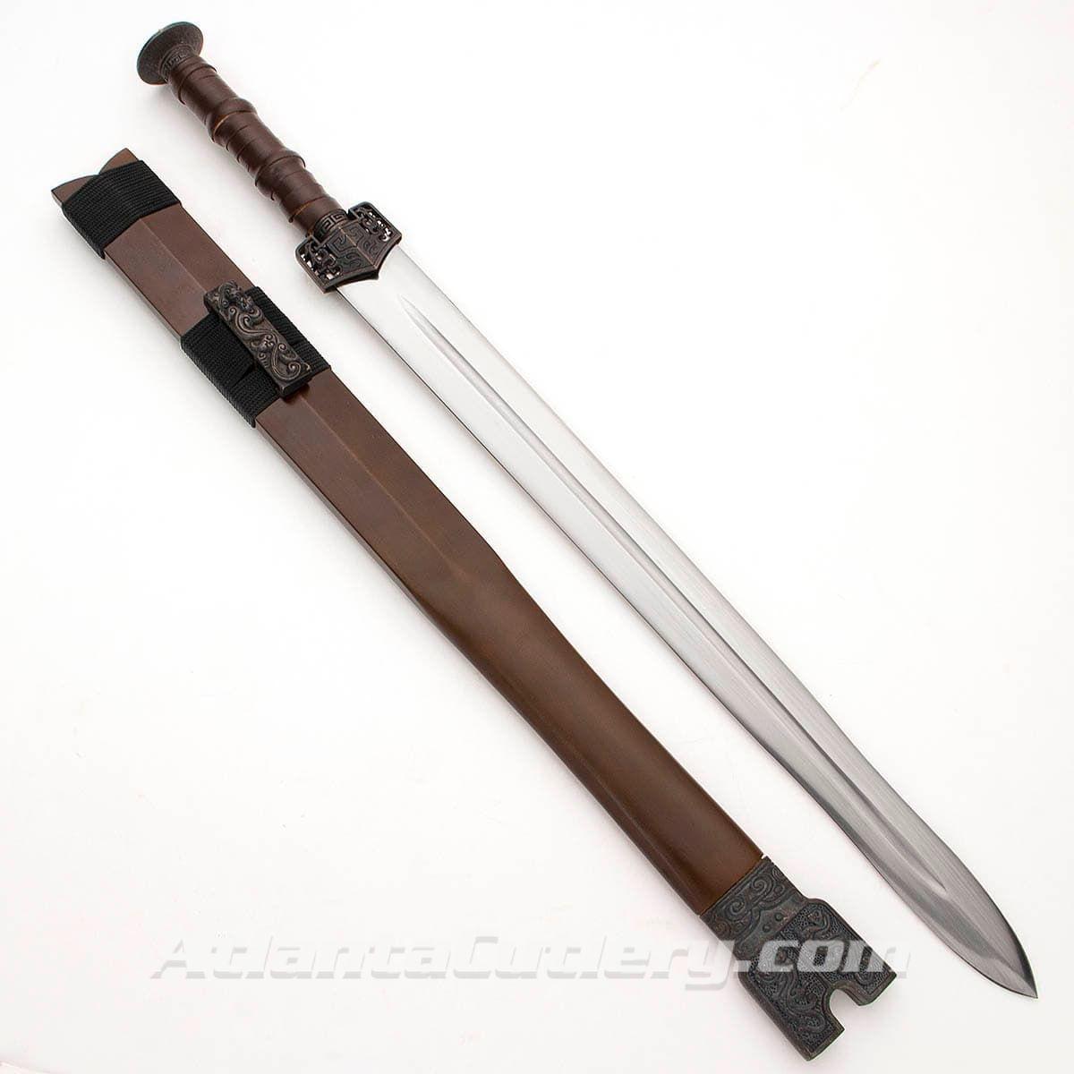 Han War Sword with Wood Scabbard