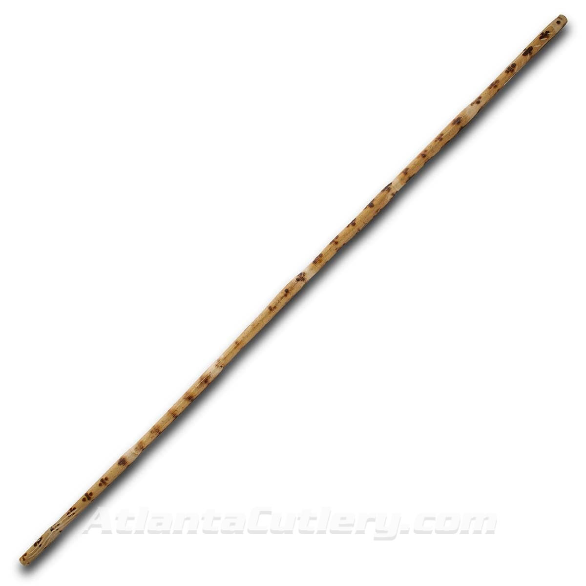 Burned and Carved 6' Rattan Bo Staff