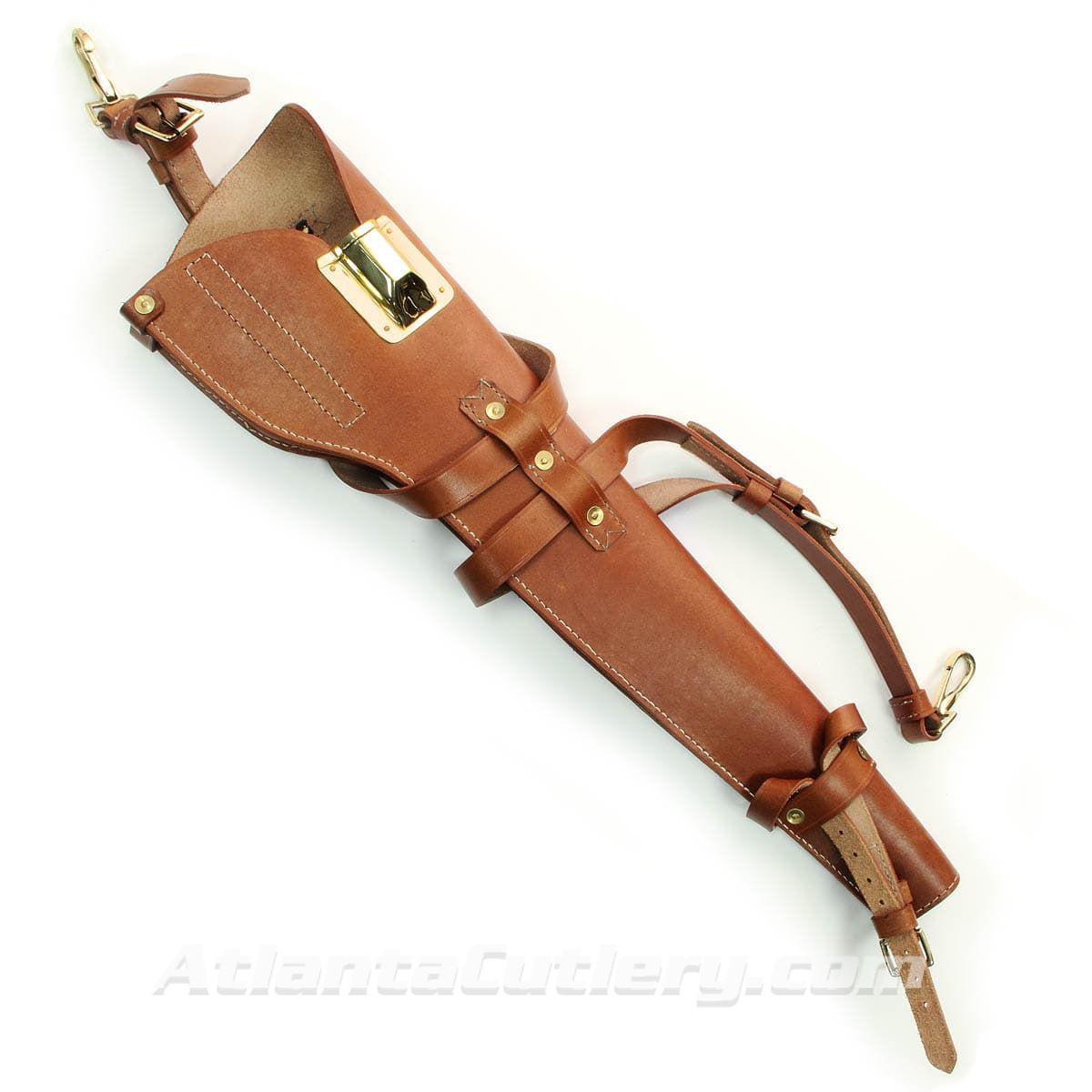 Replica M1 Carbine Leather Scabbard shown alone