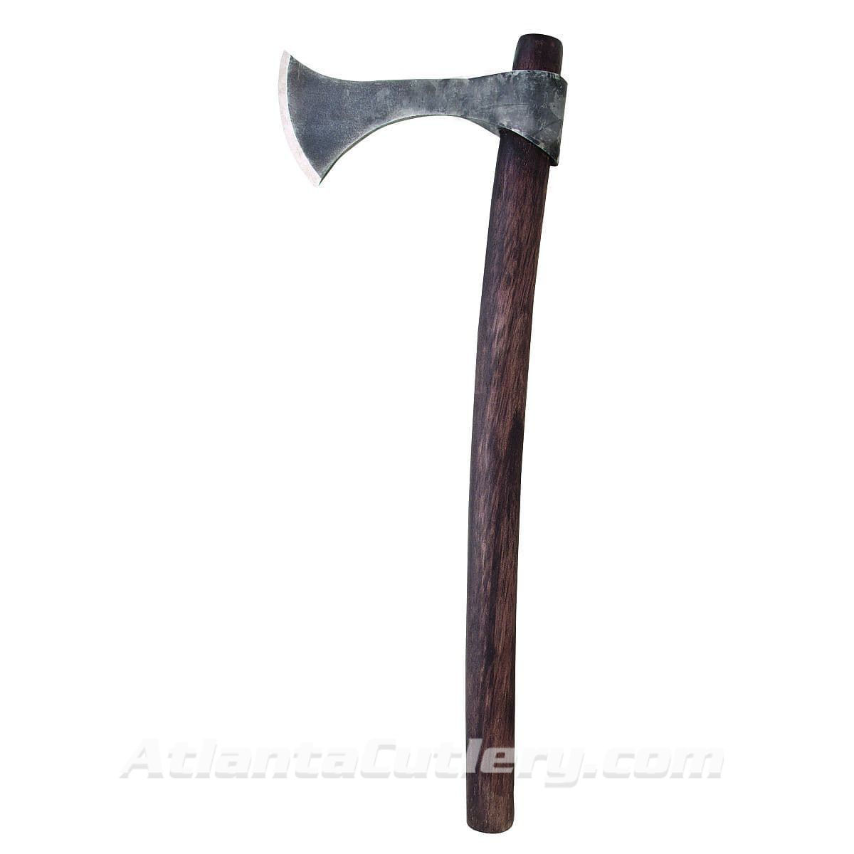 Francesca Frankish Axe with Rough Forged Blade and Curved Shaft