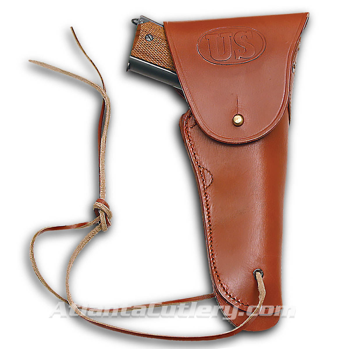 US Embossed Leather Replica US WWII Issue .45 Hip Holster
