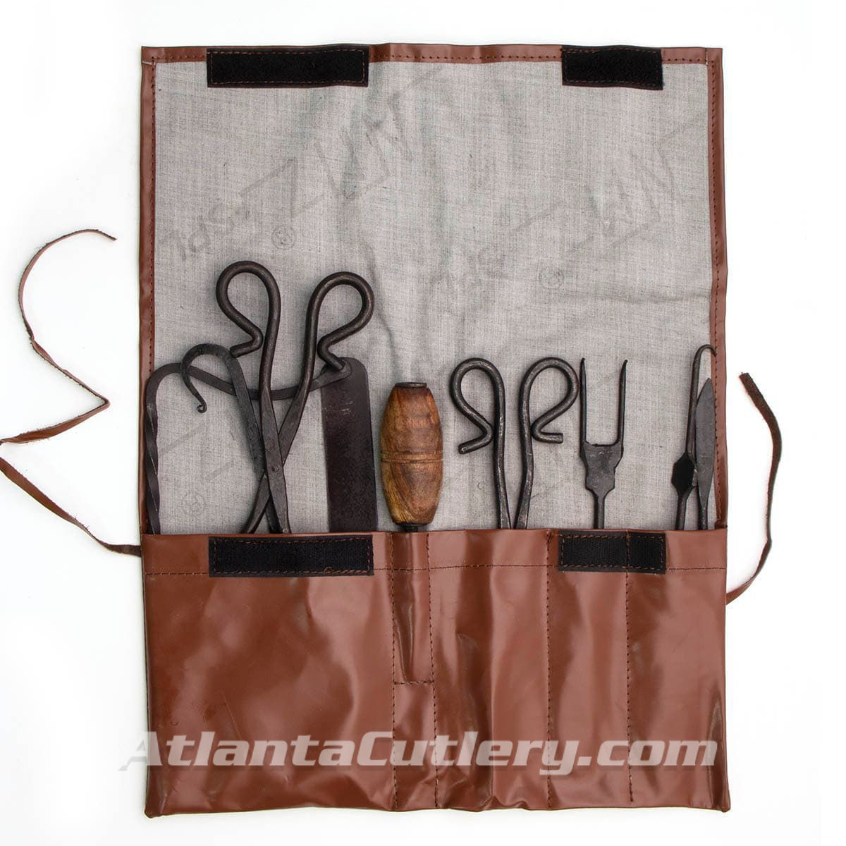 19th Century Replica Battlefield Surgery Kit with 8 historical carbon steel tools in a pouch