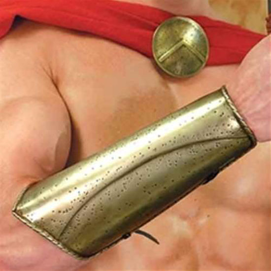 """Picture of """"300"""" Brass Spartan Vambraces"""