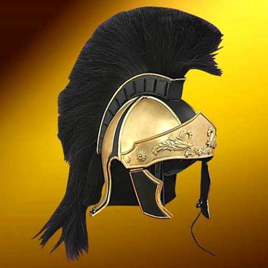 Picture of Greco Roman Black Crest Helmet