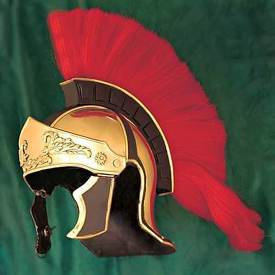 Picture of Greco Roman Red Crest Helmet
