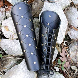 Picture of Leather Greaves