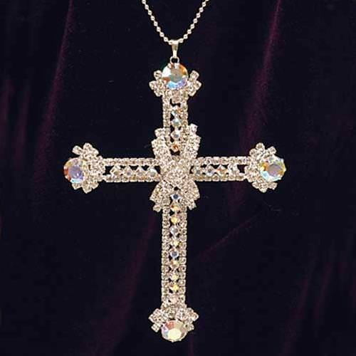 Picture of Austrian Crystal Cross Pendant