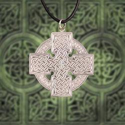 Celtic Silver Cross Pendant