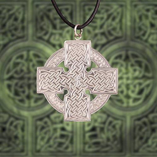 Celtic Silver Cross Pendant