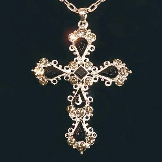 Picture of Gothic Onyx Cross Pendant