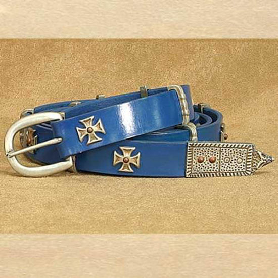Picture of Medieval Thin Long Belt Blue