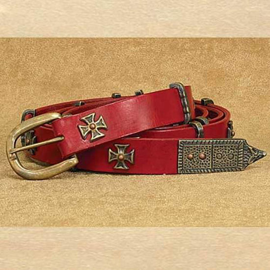 Picture of Medieval Thin Long Belt Red