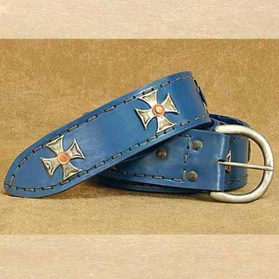 Picture of Medieval Wide Long Belt Blue
