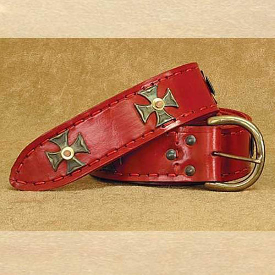 Picture of Medieval Wide Long Belt Red