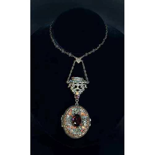 Picture of Renaissance Jeweled Locket Pendant