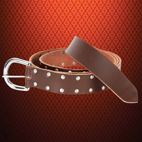 Picture of Studded Brown Leather Belt