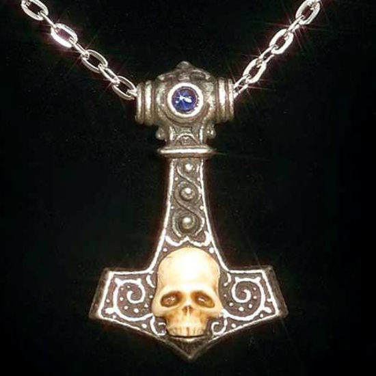 Picture of Thor's Hammer with Skull Pendant