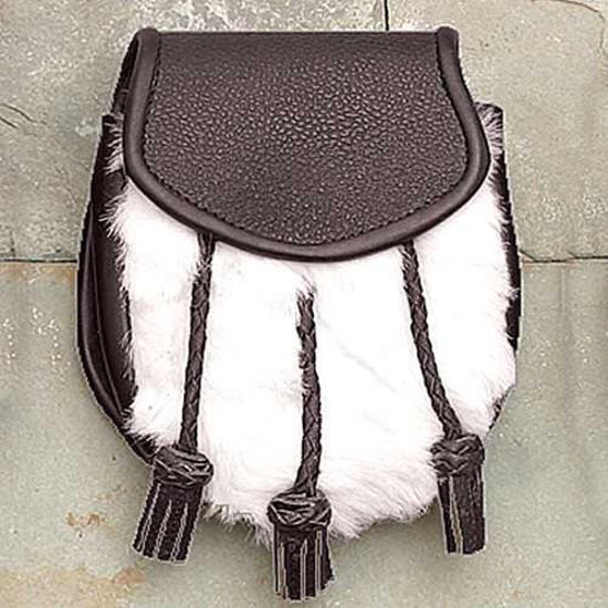 Picture of Black Sporran w/ Faux Fur