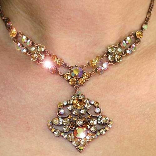 Picture of Queen's Topaz Necklace & Earrings