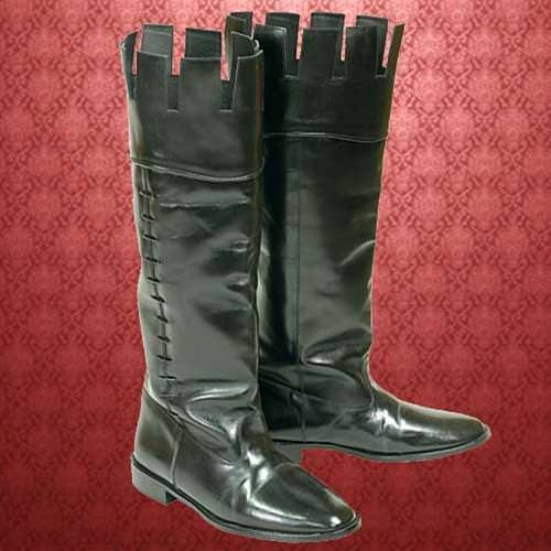 Picture of Castle Top Leather Boots