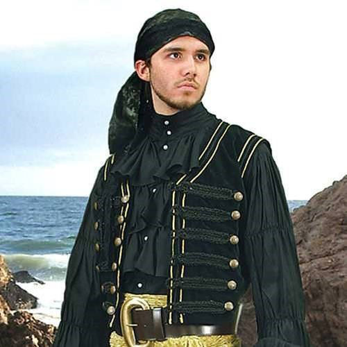 Picture of Black Pirate Vest