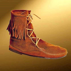 Low Boots with Fringe | Medieval Footwear