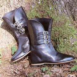 Medieval Leather Calf Boots
